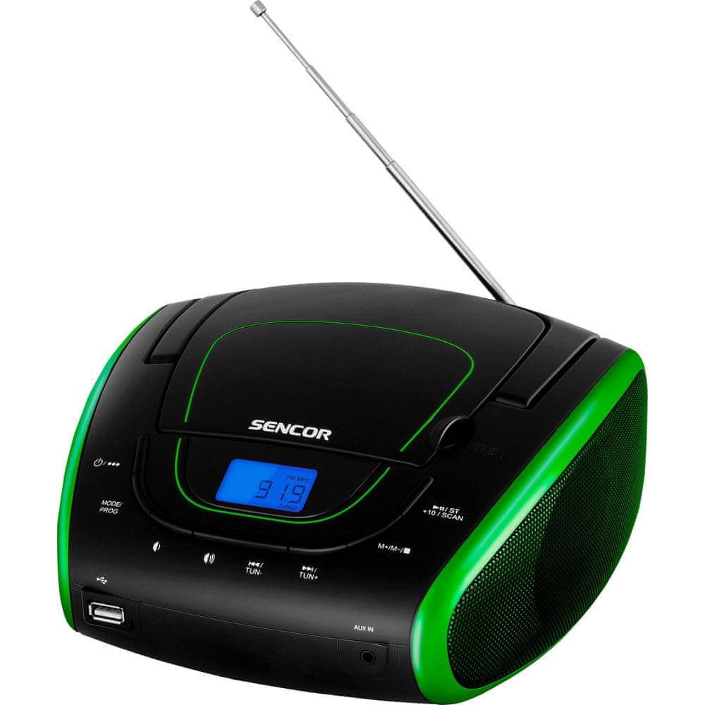 SENCOR SPT 1600 BGN, černá/zelená