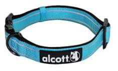Alcott Nylonový obojok s reflexnými prvkami modrý