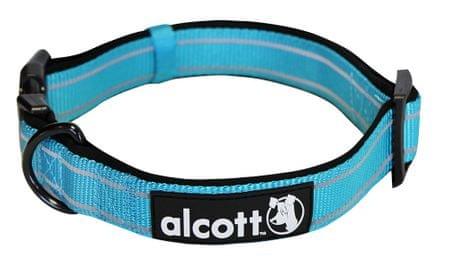 Alcott najlon ovratnica z odsevnimi elementi, modra, M