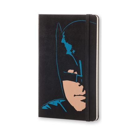 Moleskine veliki tedenski planer Batman Limited Edition 2017 - 12M s trdimi platnicami, črn
