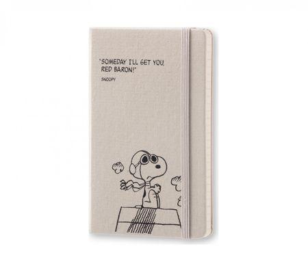 Moleskine žepni tedenski planer Peanuts Limited Edition 2017 - 12M s trdimi platnicami, siv