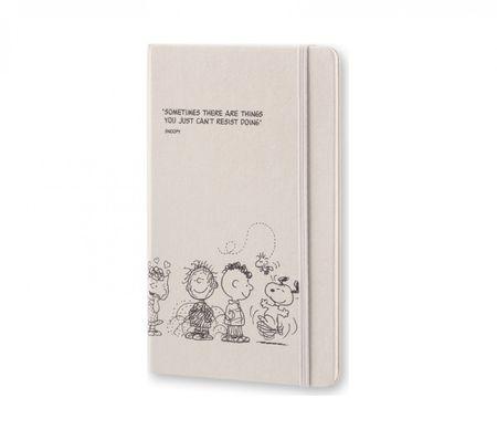 Moleskine veliki tedenski planer Peanuts Limited Edition 2017 - 12M s trdimi platnicami, siv