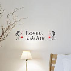 Crearreda stenska nalepka napis Love is, S