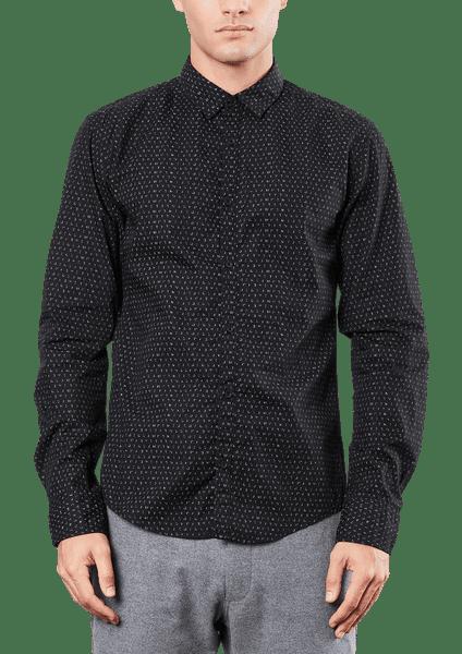 s.Oliver pánská bavlněná košile S černá