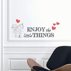 Crearreda stenska nalepka Enjoy little things, S