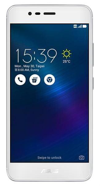 Asus ZenFone 3 MAX (ZC520TL), Dual SIM, 2 GB / 32 GB, stříbrný