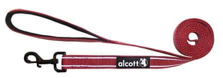 Alcott najlon povodec z odsevnimi elementi, rdeč, S