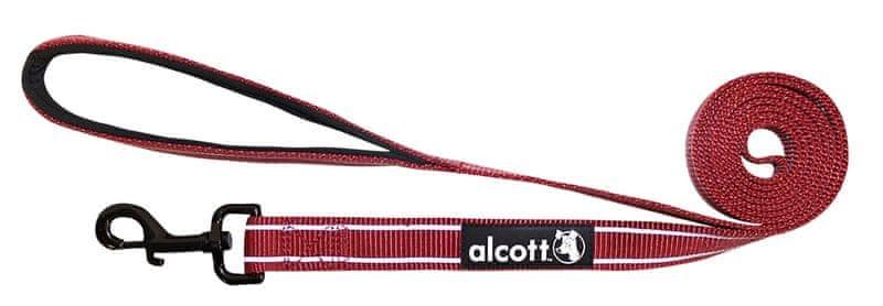 Alcott Nylonové vodítko s reflexními prvky červené 180 cm červená S