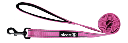 Alcott najlon povodec z odsevnimi elementi, roza, M