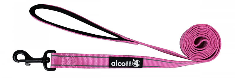 Alcott Nylonové vodítko s reflexními prvky růžové 180 cm růžová S