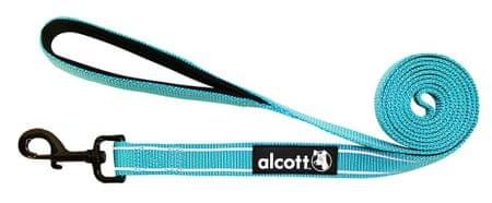 Alcott najlon povodec z odsevnimi elementi, moder, S
