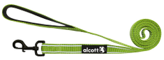 Alcott Nylonové vodítko s reflexnými prvkami zelené 180 cm