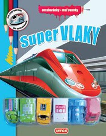 autor neuvedený: Omalovánky / Maľovanky - Super vlaky + 6 hračiek