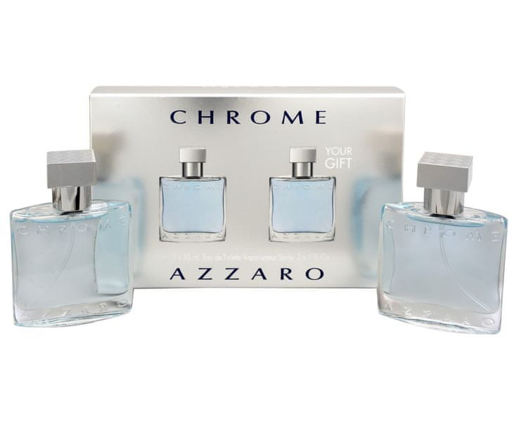 Azzaro Chrome - toaletní voda s rozprašovačem 2 x 30 ml