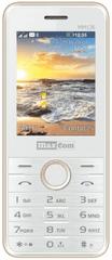 MaxCom mm136, Dual SIM, bílý / zlatý