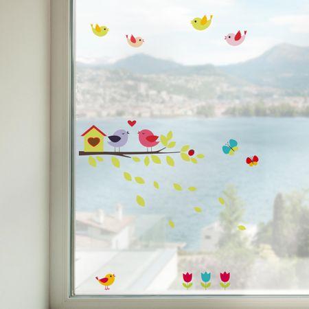 Crearreda okenska dekoracija Ptički na veji, M