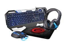 C-Tech HERNI BUNDLE: klávesnice - mys - sluchatka - podlozka