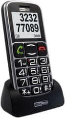 MaxCom mobilni telefon MM462, črn