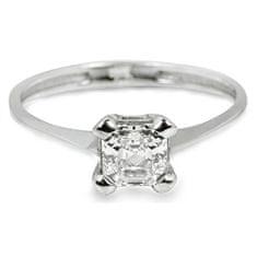 Troli Strieborný zásnubný prsteň s kryštálom 426 001 00427 04 striebro 925/1000