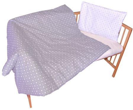 COSING 2-delni komplet posteljnine SLEEPLEASE, karo siva