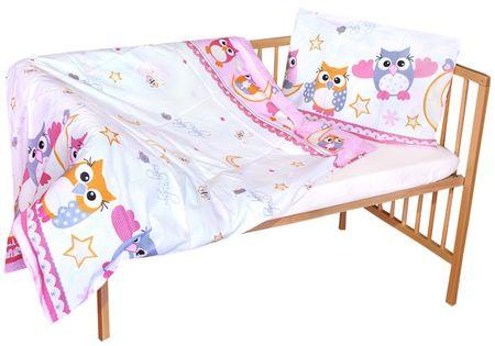 COSING 2-delni komplet posteljnine UDOBJE, sova, roza