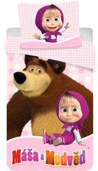 Jerry Fabrics Gyermek ágyneműhuzat, Mása és a medve