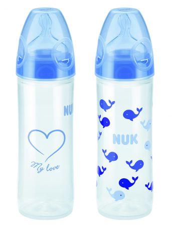 Nuk set dveh stekleničk PP FC+ Classic, 250 ml, modre