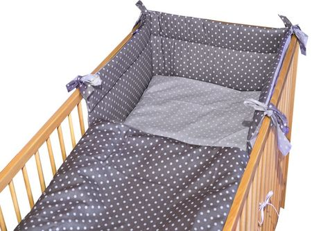 COSING SLEEPLEASE 3 darabos gyermek ágyneműhuzat szett, Pont, Szürke