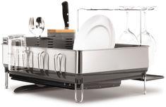 Simplehuman Odkapávač na nádobí, ocel/černá