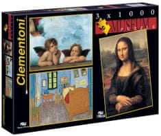 Clementoni Puzzle Muzeum 3 x 1000 dílků