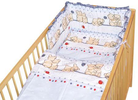 COSING 3-delni komplet posteljnine, medvedek, siva