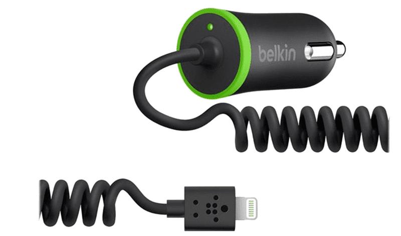 Belkin autonabíječka COIL mini, 2.1 A, černá