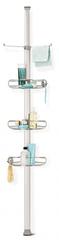 Simplehuman Rohová tyč s nastavitelnými poličkami a držáky do sprchy
