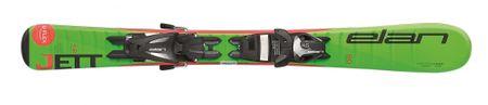 Elan smuči za alpsko smučanje Ela Jett QS EL4.5 AF2BMV16, 100 cm, zelena