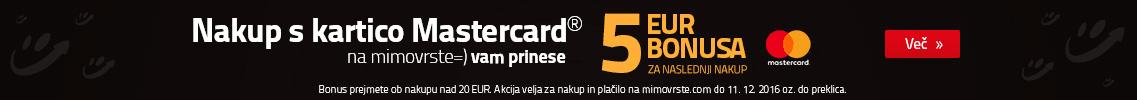 Bonus za nakup s kartcico MasterCard