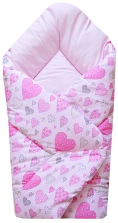 COSING spalna vreča SLEEPLEASE, roza srčki