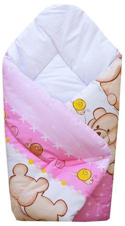 """COSING odeja """"Wrap"""" 80x80 cm, medved, roza"""