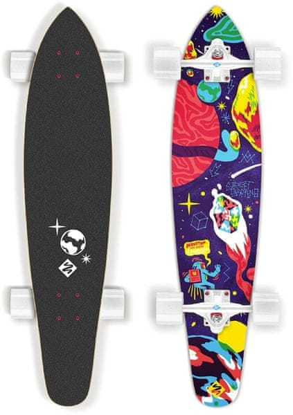 "Street Surfing Longboard Kicktail 36"" Space artist"