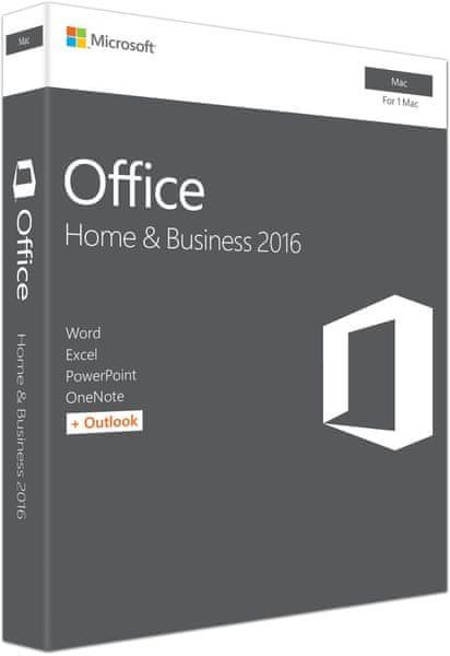 Microsoft Office Mac 2016 pro domácnosti a podnikatele CZ pro 1 MAC (W6F-00999)