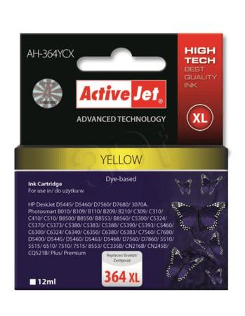 ActiveJet kompatibilna kartuša HP 364 XL, rumena (CB325EE)