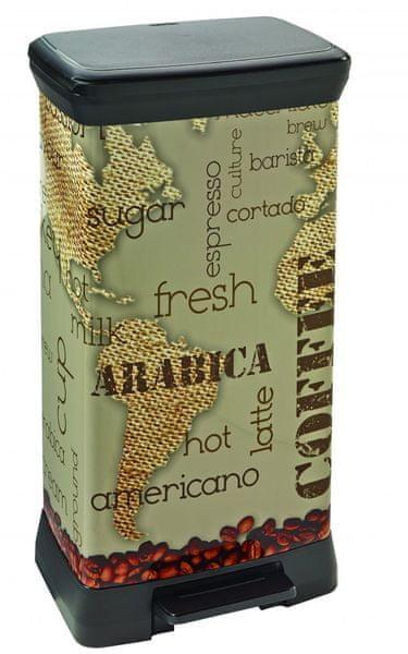 Curver Odpadkový koš Decobin 50 l Coffee