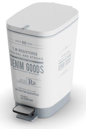 Kis koš za odpadke Chic Denim, 10 l, sivo-bel