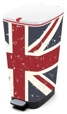 Kis koš za odpadke Chic Bin Union Jack, 50 l