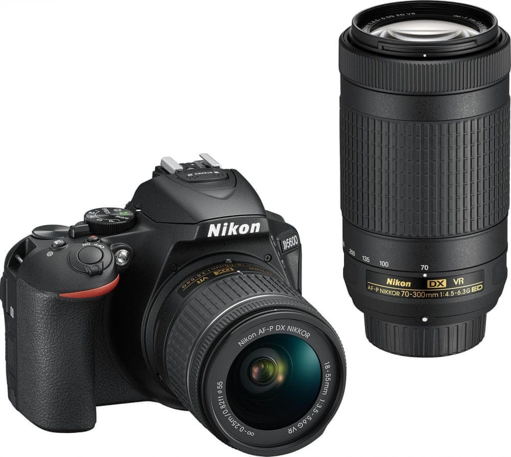 Nikon D5600 + 18-55 AF-P DX VR + 70-300 AF-P DX ED VR (VBA500K004)
