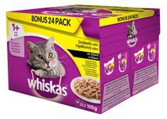 Whiskas Hydinový výber BONUS 24pack