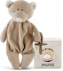 Wooly organic Usínáček s držákem dudlíku Teddy