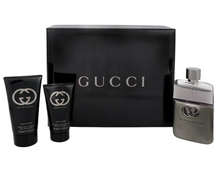Gucci Guilty Pour Homme - EDT 90 ml + balzám po holení 75 ml + sprchový gel 50 ml