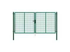 Pilofor Dvoukřídlá brána SUPER poplastovaná Zn+PVC 4138×1980 mm