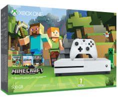 Microsoft igralna konzola Xbox One S 500GB + igra Minecraft