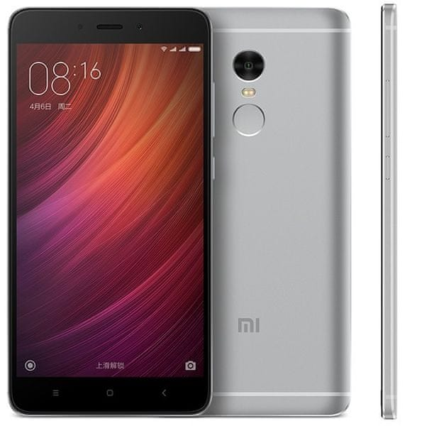 Xiaomi Redmi Note 4, 2 GB / 16 GB, Dual SIM, šedý